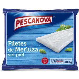 Filetes sin piel merluza pescanova 400g