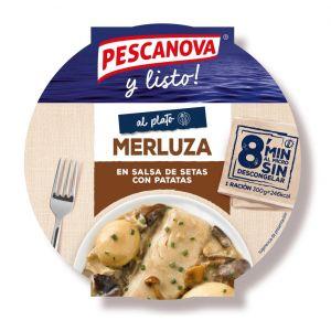 Merluza salsa setas pescanova 300gr