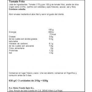 Tomate frito aceite de oliva orlando p3x212g