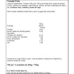Tomate frito orlando p3x212g
