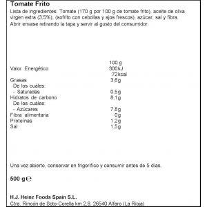 tomate frito con aceite de oliva orlando tarro 500g
