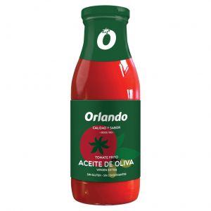 Tomate frito aceite de oliva orlando frasco 500g