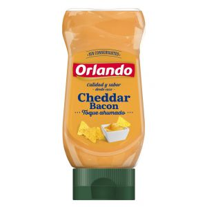 Salsa cheddar bacon orlando pet 245gr
