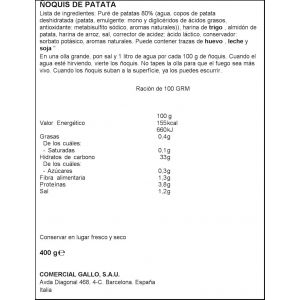 Pasta ñoquis gallo 400g