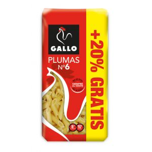Pasta macarron nº6 gallo 500g