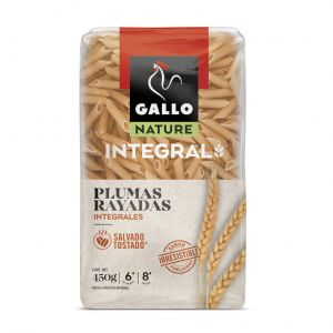 Pasta macarron rico en fibra gallo 450g