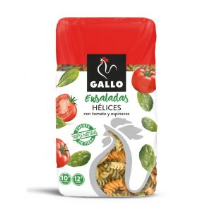 Pasta helices tricolor sin gluten gallo 450g