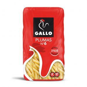Pasta macarron pluma  n6 gallo 450g