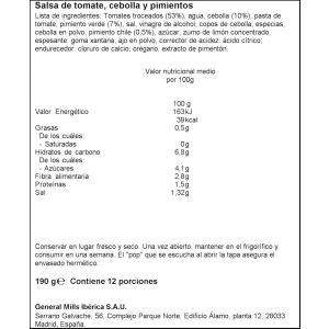 Salsa mejicana old el paso tarro 200g