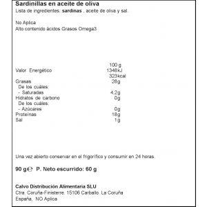 Sardinilla aceite de oliva calvo rr90 60g ne