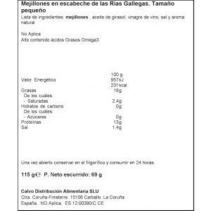 Mejillon escabeche calvo 13/18 rr150 69gne