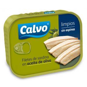 Filete de  sardina aceite de oliva calvo 70grne