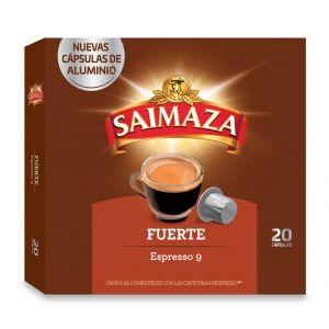 Cafe en capsulas fuerte  saimaza 20 capsulas