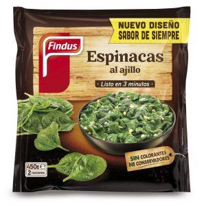 Espinacas  al ajillo verdeliss findus 450g