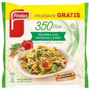 Noodles con verduras y pollo salto  350g