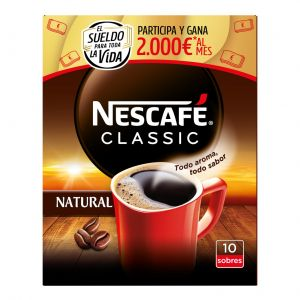 Cafe soluble natural nestle p10x20 gr
