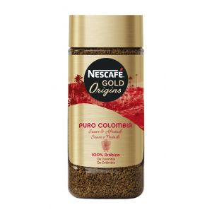 Cafe soluble gold puro colombia nescafe 100 gr