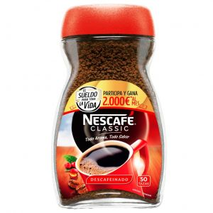 Cafe soluble descafeinado nescafe 100 gr