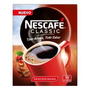 Cafe soluble descafeinado nescafe p10x20gr