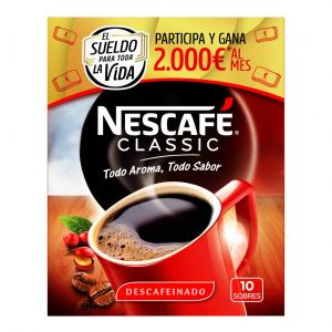 Cafe soluble descafeinado nescafe p10x20gr