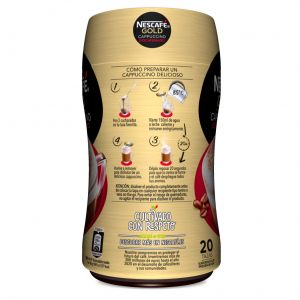 Cafe soluble capuccino descafeinado nescafe 250 gr