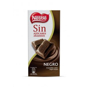 Chocolate negro sin azucar  nestle  125g