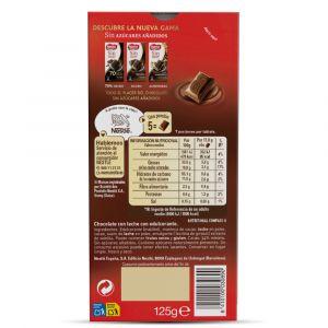 Chocolate con leche sin azucar  nestle  125g