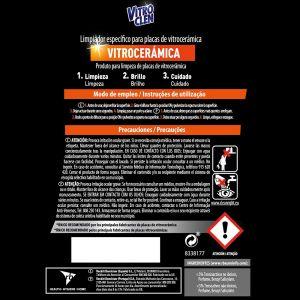 Limpiador vitrocerámica power 3 en 1 vitroclen 450 ml