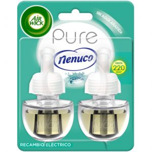 Recambio para ambientador eléctrico aroma nenuco air wick pack de 2 unidades de 19ml