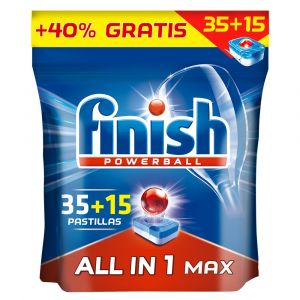Lavavajillas máquina pastilla finish todo en 1 35+15 dosis