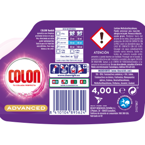 Detergente líquido vanish colon 80 dosis 4,712 litros