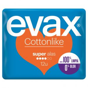 Compresa alas super cottonlike evax 12ud
