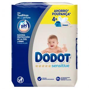 Toallitas recambio dodot sensitive pack de 216 unidades