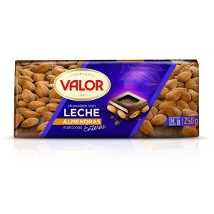 Chocolate con leche y almendras valor  250g