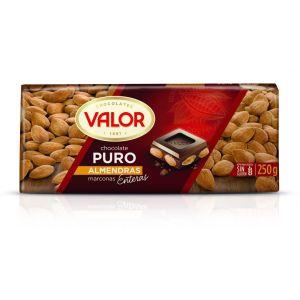 Chocolate puro con almendras valor  250g