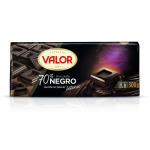 Chocolate negro 70% valor  300g