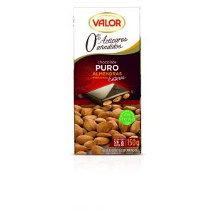 Chocolate puro sin azucar con almendras valor  150g