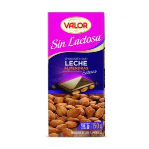 Chocolate sin lactosa con almendras valor  150g