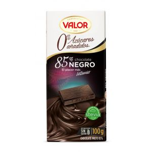 Chocolate negro sin azucar 85% valor  100g