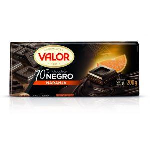 Chocolate negro 70% naranja valor  200g