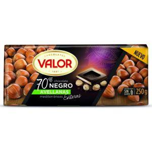 chocolate 70% avellana valor 250g