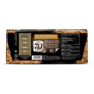 Chocolate negro 82% almendra valor 250gr