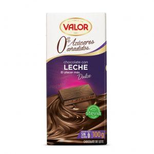 Chocolate sin azucar  leche valor 100gr