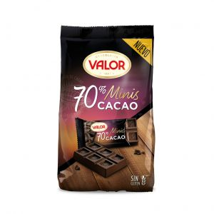 Chocolatina mini negro 70% valor 200gr