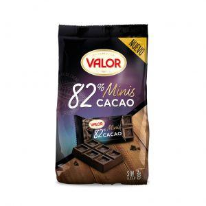 Chocolatina mini negro 82% valor 171gr