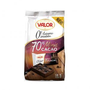 Chocolatina mini s/az negro 70% valor 144gr
