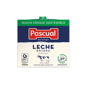 Leche entera pascual brick 1l