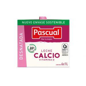 Leche con calcio desnatada pascual brick 1l