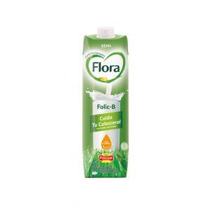 Leche folic b semidesnatada flora brick 1l
