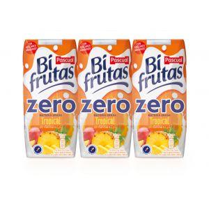 Bi frutas zero tropical  pascual  brick 33cl